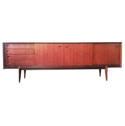 Scandinavian mid-century modern teak sideboard / credenza