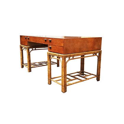 An Henredon Hollywood regency Bamboo desk