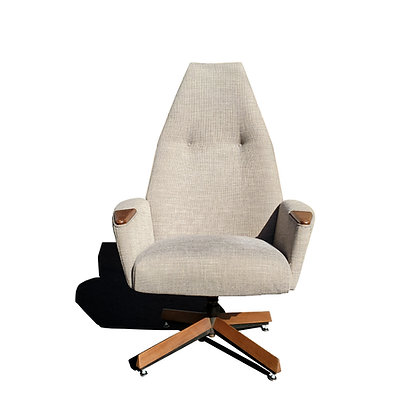 A mid-century modern Adrian Pearsall swivel high back lounge chair 2174C