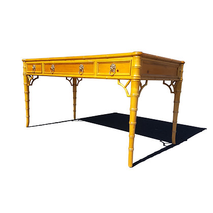 Baker furniture Chippendale faux bamboo desk.