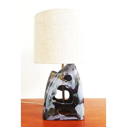 Black and blue Mid-century modern ceramic lamp