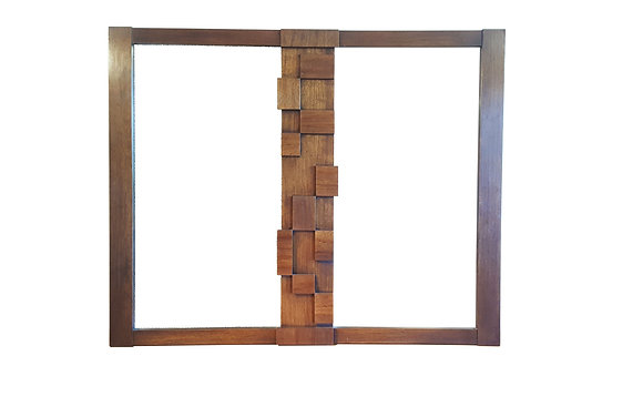 Brutalist mid-century mirror / Paul Evans style