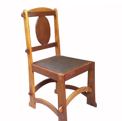 A set of 6 art and craft chairs - Belgium circa 1900