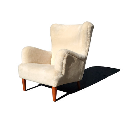 Attributed to Flemming Lassen wingback chair