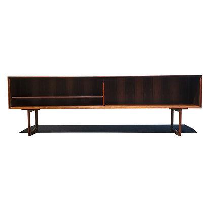 A Danish modern rosewood J Clausen Brande Mobelfabrik Sideboard  / bookcase