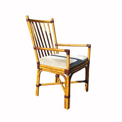 Large mid-century modern bamboo armchair
