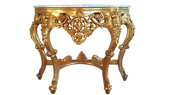 Louis XV-Style / Hollywood regency Gilt Wood Console
