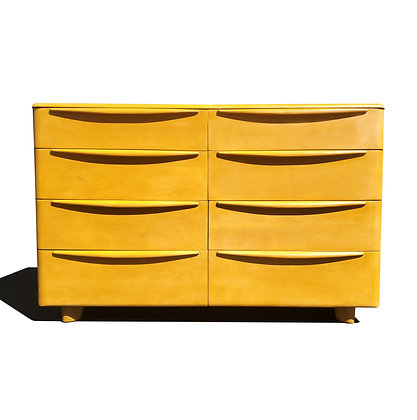 A mid-century modern MCM Heywood Wakefield Dresser / Credenza / Chest of drawers