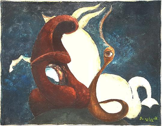 Mid century modern surrealist painting