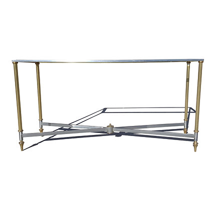 A neo classical Hollywood regency in the manner of maison Jansen console table