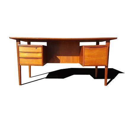 Danish mid century modern President desk by Peter Lovig Nielsen
