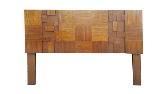 Brutalist mid century modern head board by Lane Paul Evans style