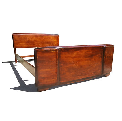 Mid-century bed frame / headboard by Heywood Wakefield
