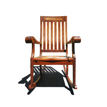 An Anglo-indian - British colonial rocking Chair - rocker