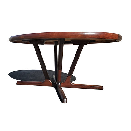 A Danish mid-century modern Rosewood expendable dining table