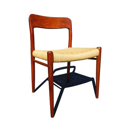 Mid-Century Danish teak teak single chair by Niels Møller Model # 75.