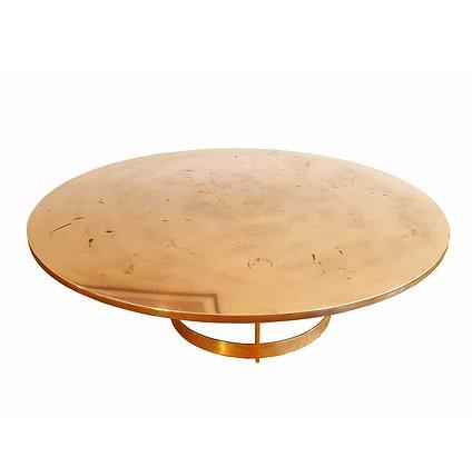 Italian mid-modern brass / bronze coffee table