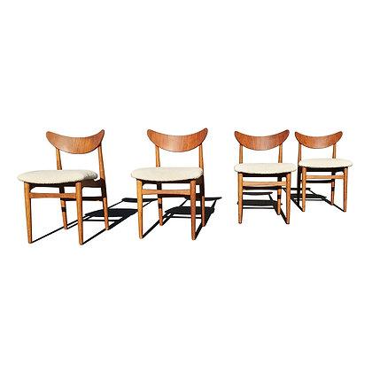 A set of 4 Danish modern dining chairs by Henning Kjaernulf for Soro Stolefabrik