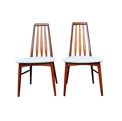 A Danish - mid-century modern Eva chairs by Niels Koefoed (A pair available)