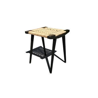 A Yugoslavian Mid-century modern woven stool