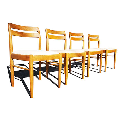 Danish mid century modern Dining Chairs by H.W. Klein for Bramin Møbler, 1960s,