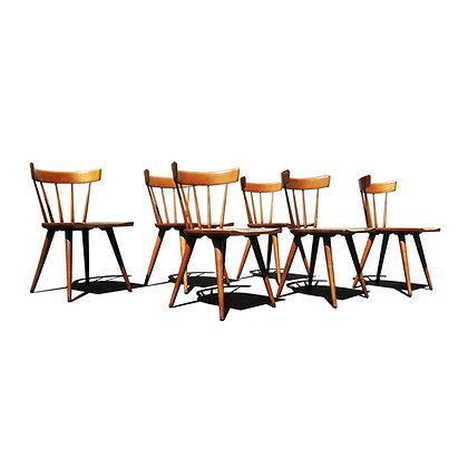 A set of 6 Paul Mccobb planner group dining chairs