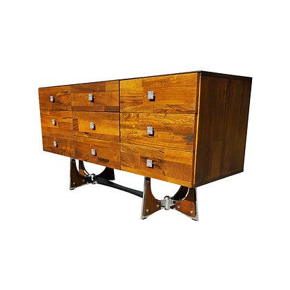 A mid-century - space-age - MCM rosewood Dresser - credenza
