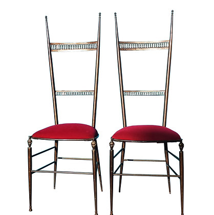 A pair Of bronze neoclassical / Etruscan Italian chairs