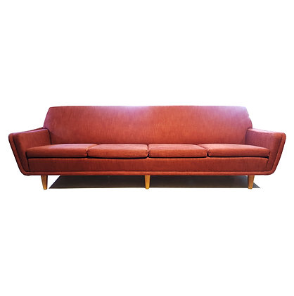 Large Swedish Mid-century modern / space age Folke Ohlsson for Dux red Sofa