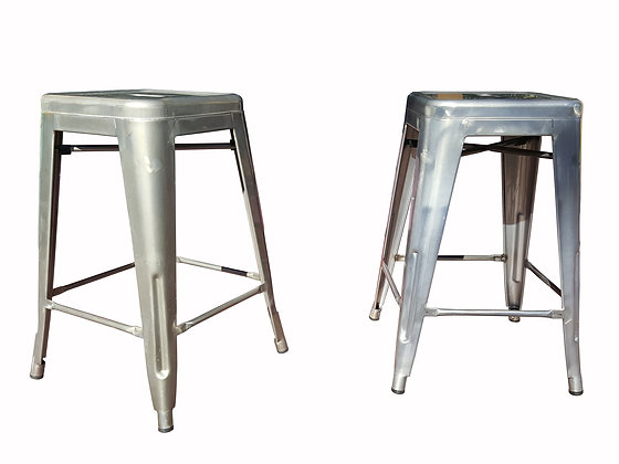 "Pair of industrial Tolix ""Marais"" style counter bar stool"