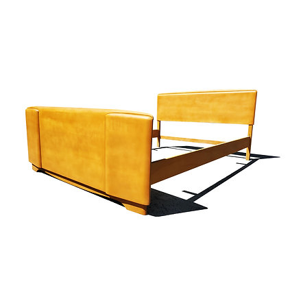 A Mid-century Modern Heywood Wakefield full-size bed Frame