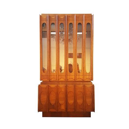 Mid century modern hutch display cabinet