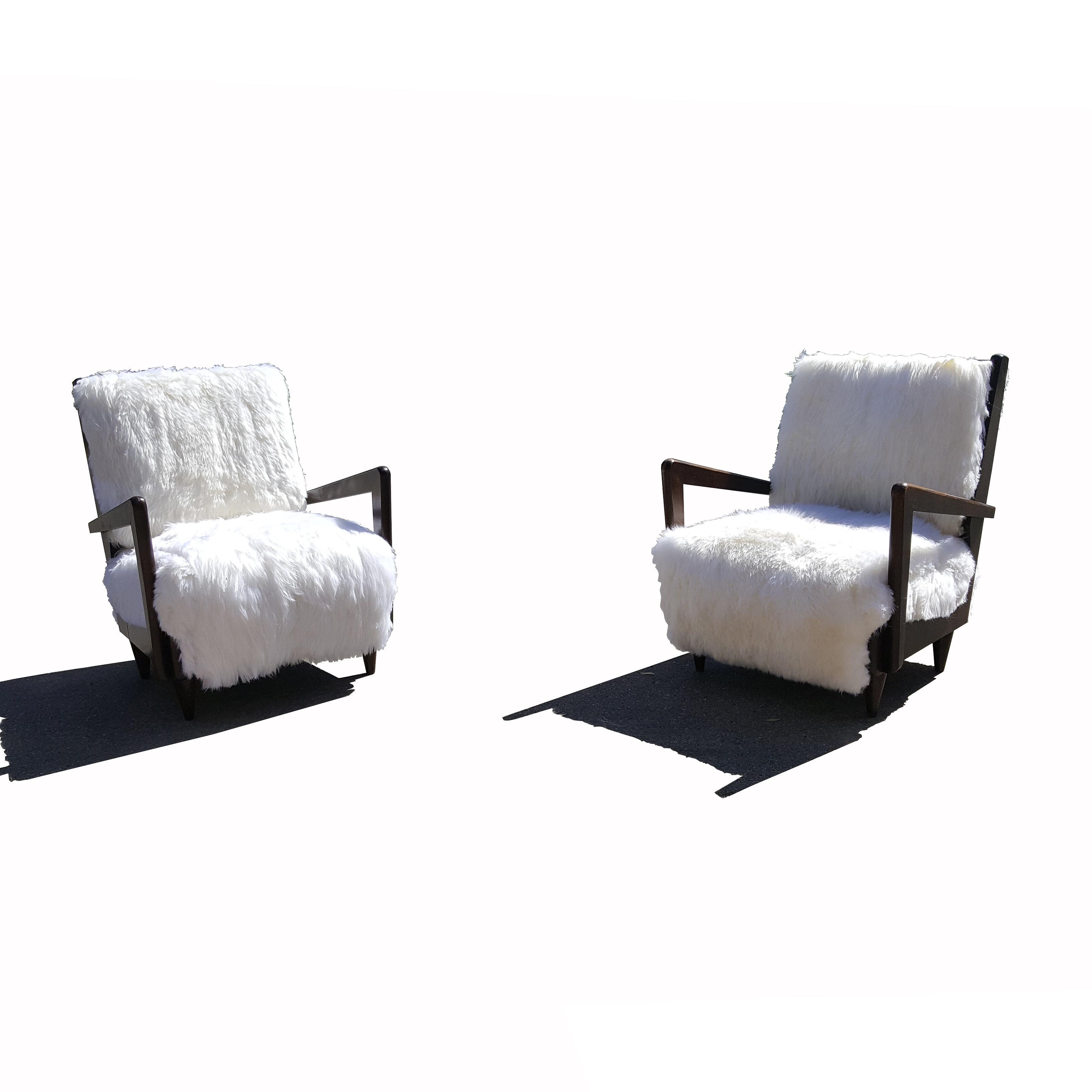 mid century modern furniture austin. a pair of italian midcentury modern sheepskin armchairs mid century furniture austin s