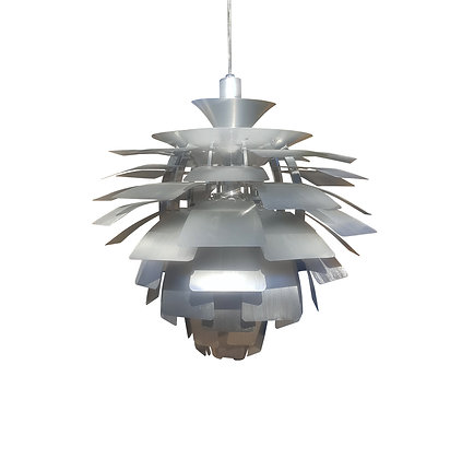 A large mid-century modern flower ceiling light / chandelier