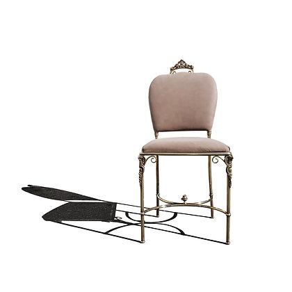 An Italian neoclassical brass single side chair - Vanity chair
