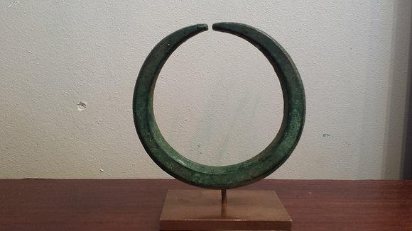 Antique Mediterranean green bronze bracelet circa -1000 BC
