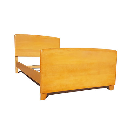 A Mid-century Modern Heywood Wakefield twin or single size bed Frame