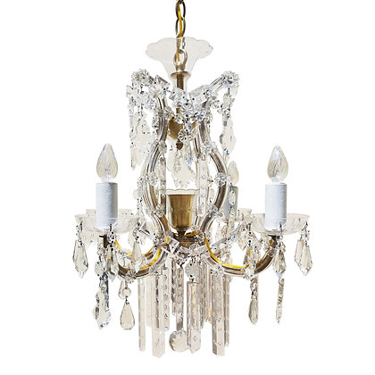 A 1940's Maria Theresa Crystal chandelier