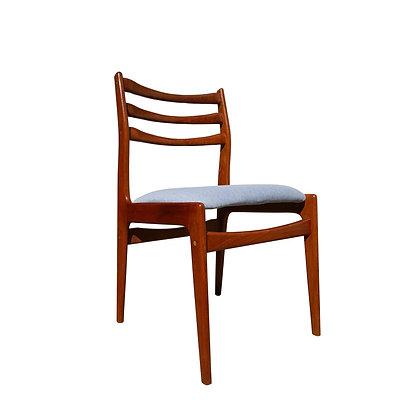 Danish mid century modern teak wood dining chair
