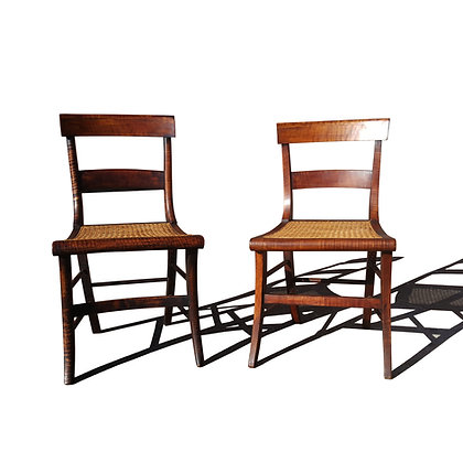 A pair of French traditional - farmhouse antique chairs