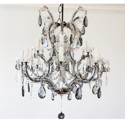 A 1950's Italian Maria Theresa Amethyst crystal chandelier