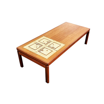 A large Mid-century coffee table with ceramic tiles by HW Klein