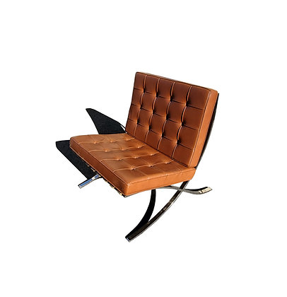 A Knoll leather Barcelona lounge chair