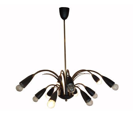 1950's Italian brass Sputnik chandelier