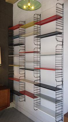 Deutsh wall unit system / bookcase by Tomado mid-century modern