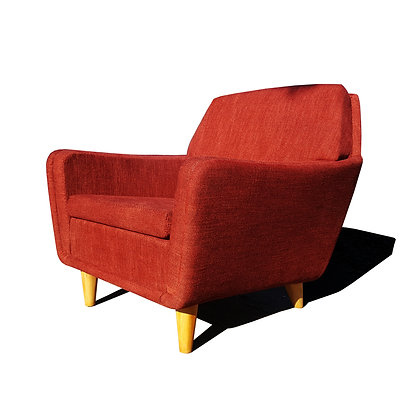 Scandinavian mid-century modern Folke Ohlsson for Dux red lounge chair / club ch