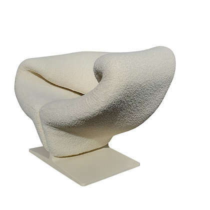 A space-age - MCM - Pierre Paulin boucle fabric - Ribbon lounge chair