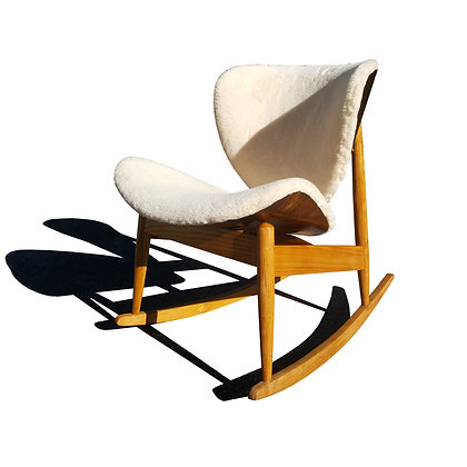 Mid century modern plywood rocking chair
