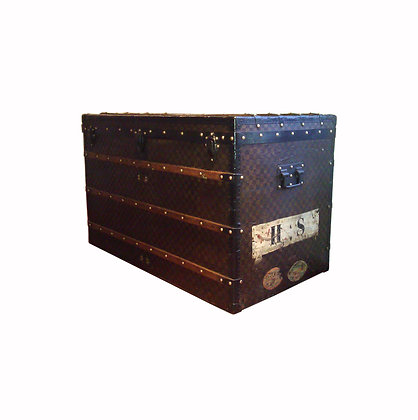 "Large Authentics old Vuitton ""Damier"" trunk circa 1890"
