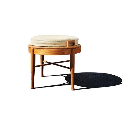 B.J Hansen Mid-Century Modern Teak Flip Top Table/Stool